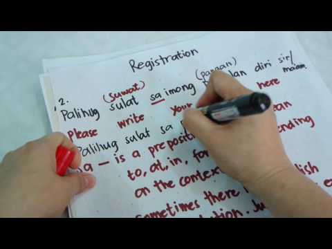 Bisaya Lesson: Doctor/Med Staff- Patient Interaction (Cebuano-English) Patient registration and more