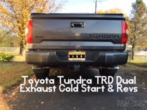 Toyota Tundra Limited >> What Does The Toyota Tundra TRD Dual Exhaust Sound Like ...