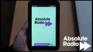 Absolute Radio on the Samsung Galaxy Tab