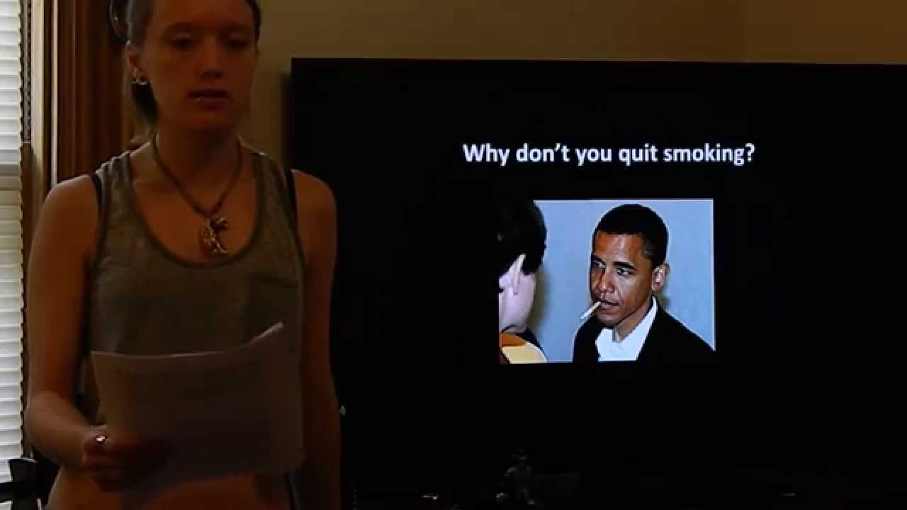 Smoking speech