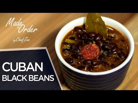 Cuban Black Beans From Scratch   Frijoles Negro   Made To Order   Chef Zee Cooks