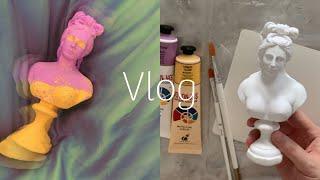 [Vlog] 집 꾸미기   나만의 인테리어 소품 만들기…