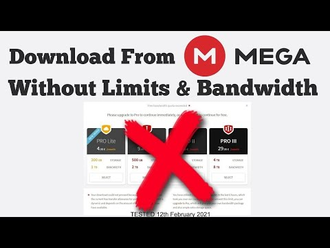 How to Download MEGA files without Limits: Tested February 2021
