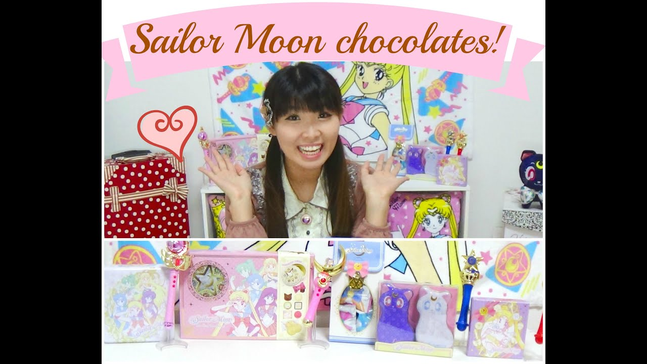 Sailor Moon Valentineu0027s Chocolates Collection KAWAII~ Review! セーラームーン  バレンタインデー チョコレート♪