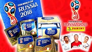 KOMPLETTE DISPLAY BOX (100 TÜTEN 500 STICKER!!!) Panini FIFA World Cup 2018 WM Sticker