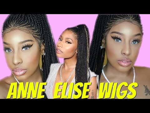 TRYING A NICKI  BRAIDED LACE WIG! HIT OR MISS? ( Review + Install ) FT. ANNEELISEREALHAIR.COM
