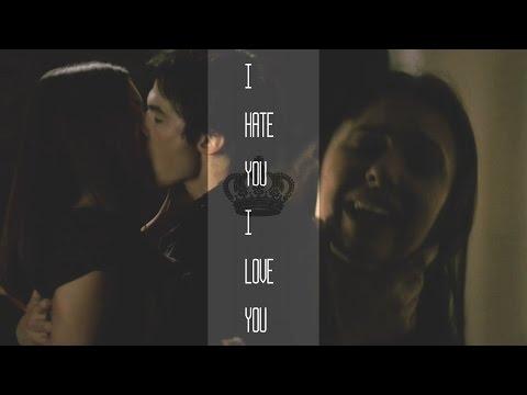 Damon and Elena i hate you i love you