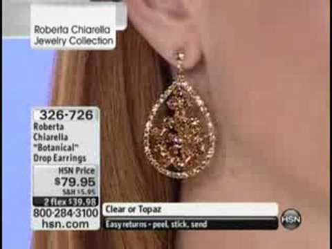 Roberta Chiarella shows her botanical earrings on HSN. http://bit.ly/2WYrQ5W