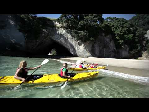 Cathedral Cove Kayak Tours, Hahei, New Zealand (HD)
