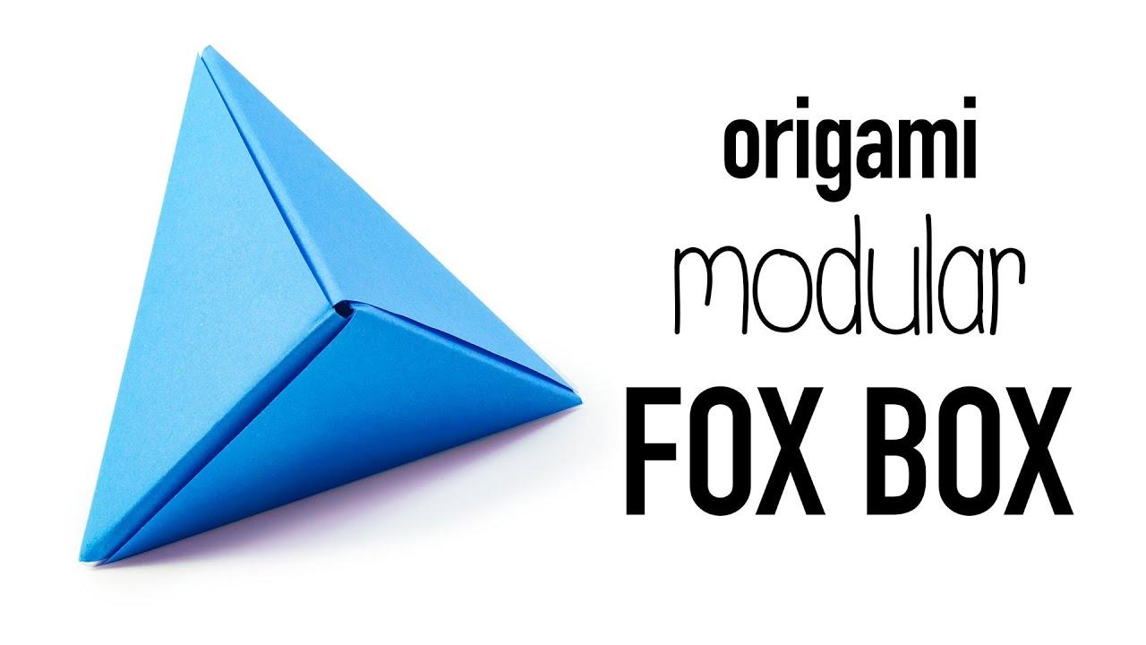 Modular Origami Fox Box Tutorial DIY