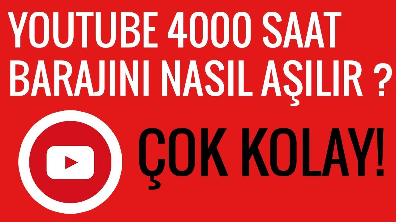YOUTUBE 4000 SAAT BİTİR YOUTUBE 4000 SAAT İZLENME YOUTUBE 4000 SAAT İZLENME  NASIL YAPILIR 1000 ABONE - YouTube