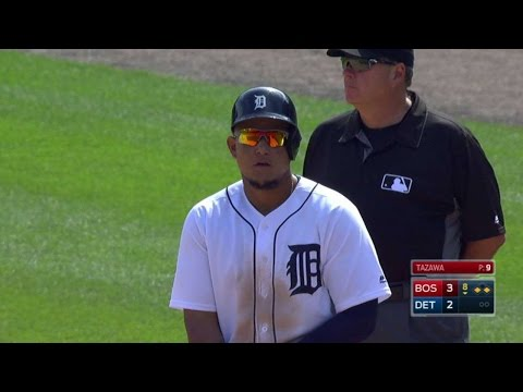 BOS@DET: Cabrera collects 1,000th RBI with Tigers