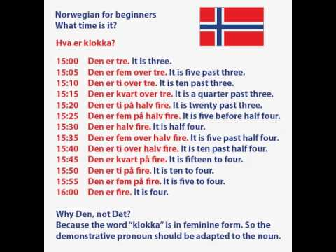 Learn Norwegian online | Free Norwegian lessons
