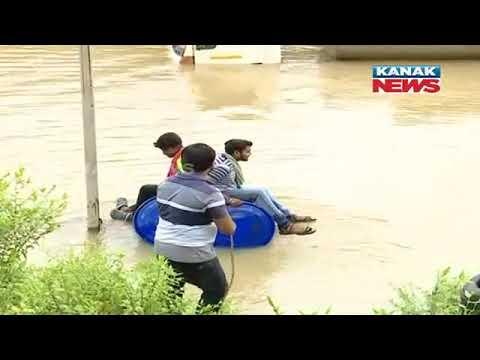 Odisha: Have A Look At The Flood Situation In Chandan Nagar
