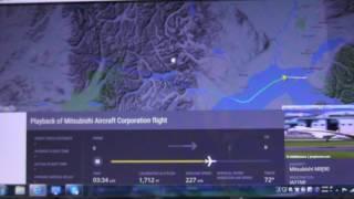 MRJ 1号機(JA21MJ)無事 アンカレッジ国際空港に到着した。