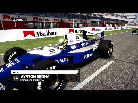 F1 1994 mod - AYRTON SENNA - RACE - GAMEPLAY