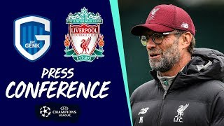 Liverpool's Champions League pre-match press conference | Genk