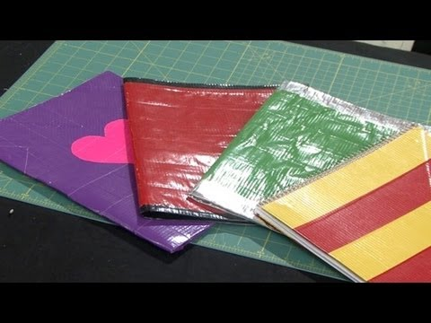 Duct Tape School Folder and Notebook