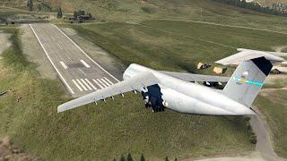 Lockheed C-5 Galaxy VS Short Runways - It Can Fly Everywhere