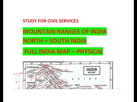 Mountain Ranges of India # Full Indian PHYSICAL MAP