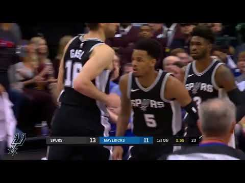 Dejounte Murray BREAK Norlens Noel ANKLES | Dallas Mavericks vs San Antonio Spurs (11/14/2017)