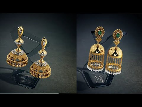 Latest Gold Jhumka Designs With Weight | gold Earrings Jhumka Designs | Earrings for Women/girls