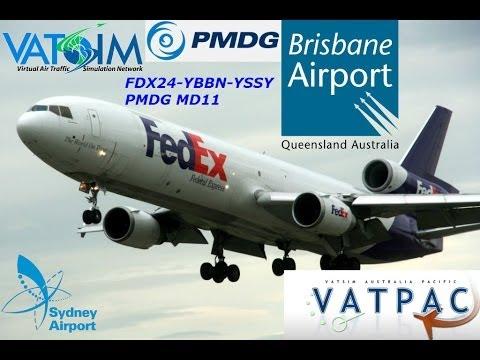 FSX VATSIM VATPAC REAL OPS BRISBANE TMA FDX24-YBBN-YSSY