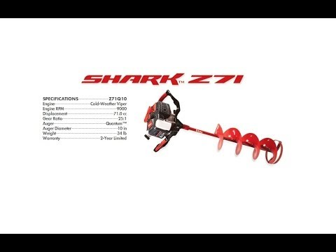 Eskimo Shark Z 71 cc Most Powerful Ice Auger on Earth