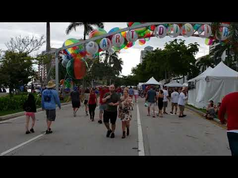 SunFest Entrance to Art District - West Palm Beach Waterfront - May 6, 2018