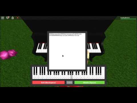 Fur Elise On Roblox Piano Tutorial Read Description Youtube