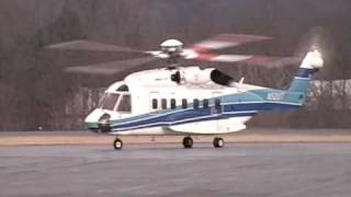 Sikorsky S92 helicopter arriving CBE