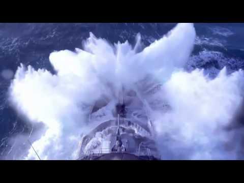 French Navy Frigate vs Waves. Poderio Militar.