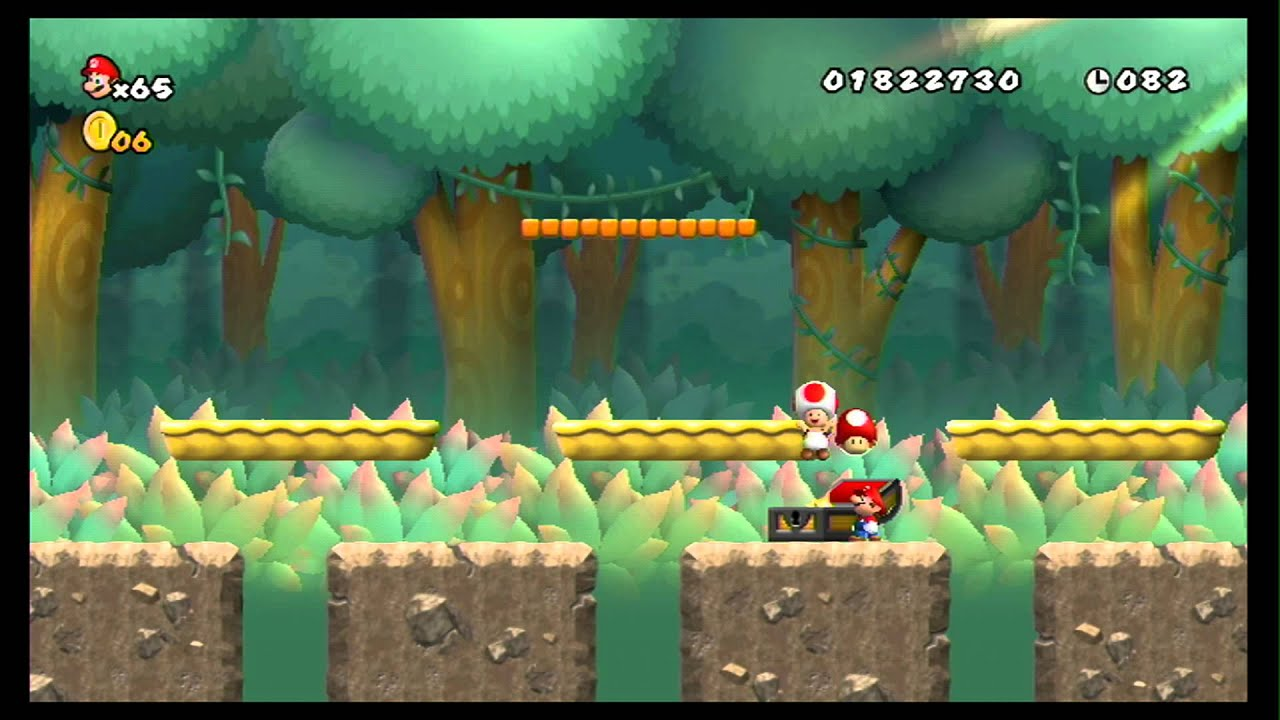 New Super Mario Bros Wii 100 Walkthrough Part 9 World 5 4 A