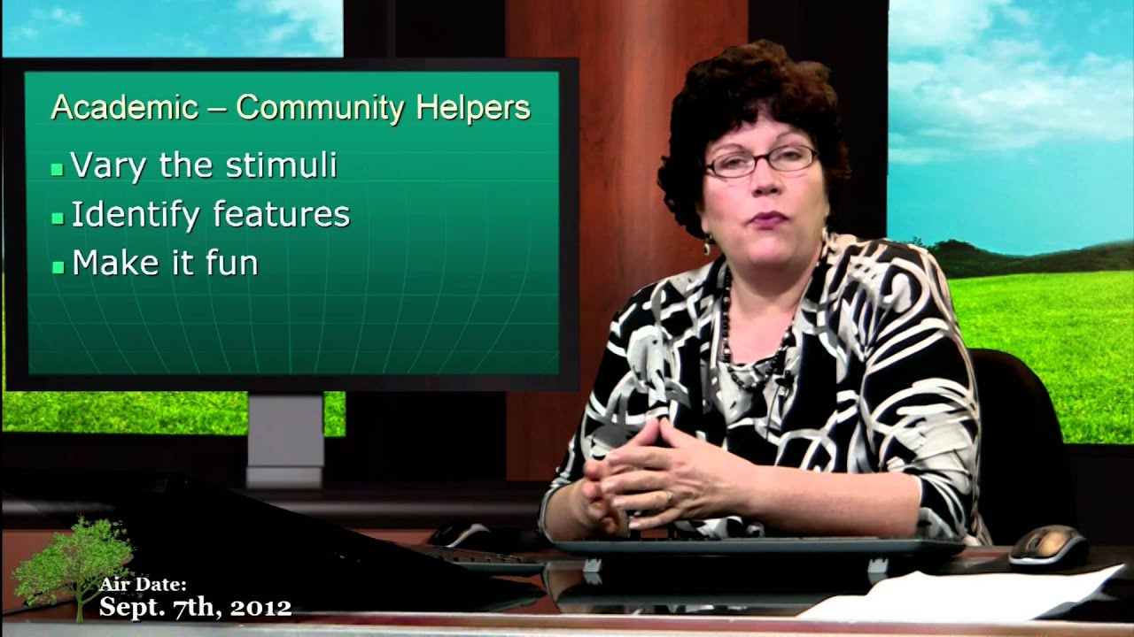 autism teaching about community helpers youtube