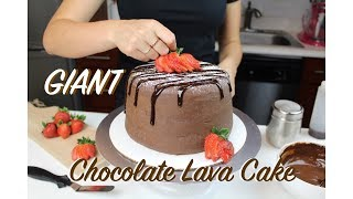 Giant Chocolate Lava Cake | CHELSWEETS