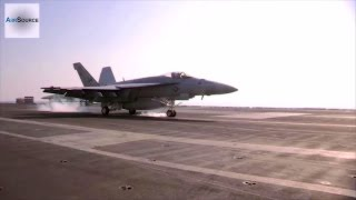 F-18 Hornets Landing/Takeoff from Navy Aircraft Carrier CVN 77