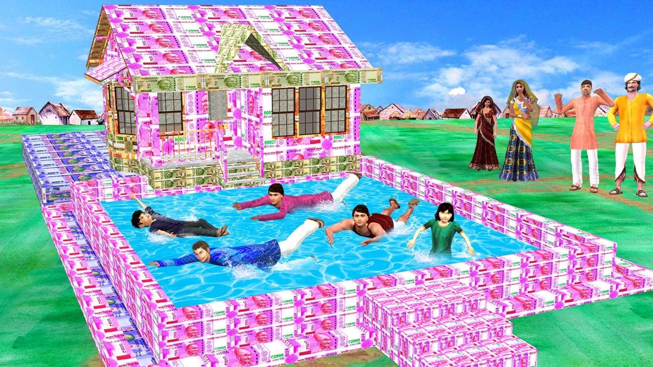 पैसे का घर स्विमिंग पूल Money House Swimming Pool Comedy Video हिंदी कहानियां Hindi Kahaniya Comedy