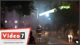 20 سيارة إطفاء تكافح حريق الفجالة.. والجيزة تدفع بسيارات إضافية للمساعدة