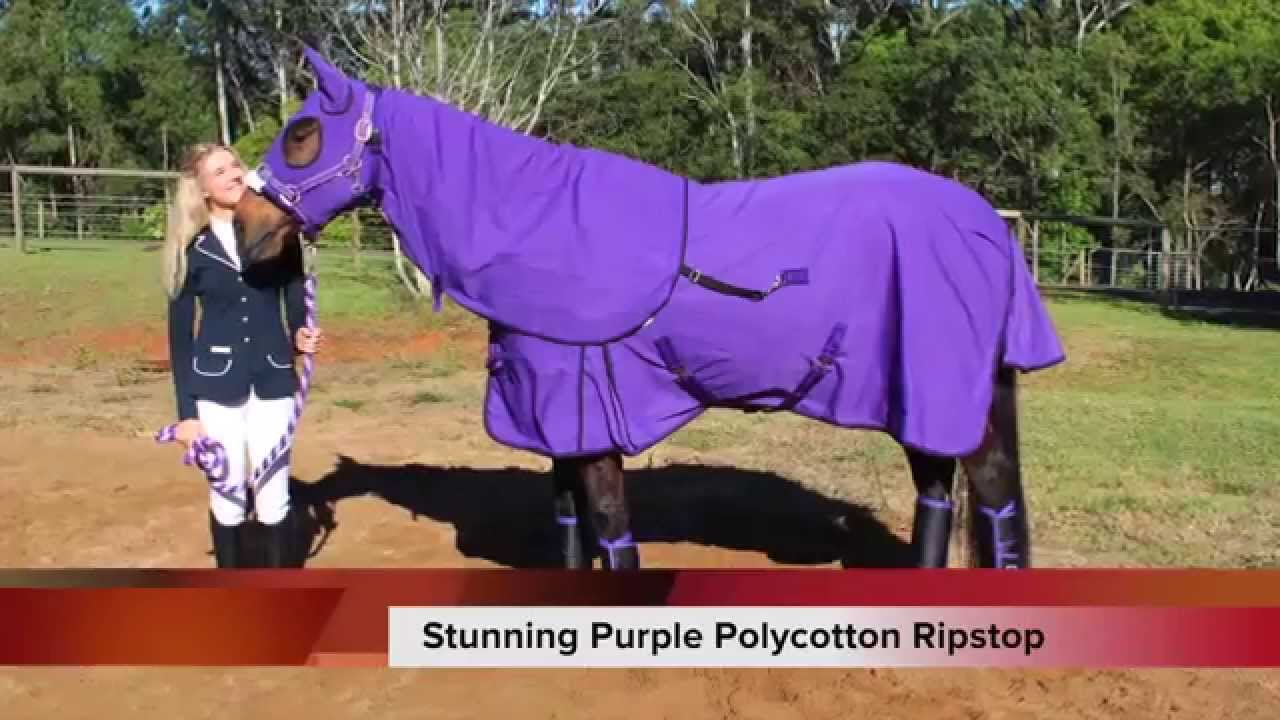 Caribu Ripstop Horse Rug Hood Set Review Video