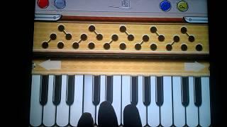 Teri meri prem kahani notes on Harmonium Plus HD iPhone app