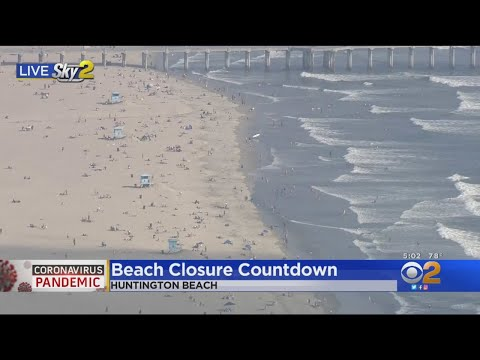 Beachgoers Visit Huntington Beach Ahead Of Gov. Newsom Closures