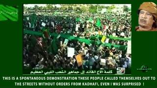 Protest in Libya 2011 TRIPOLI - GADDAFI SPEECH I [1th July 2011.]