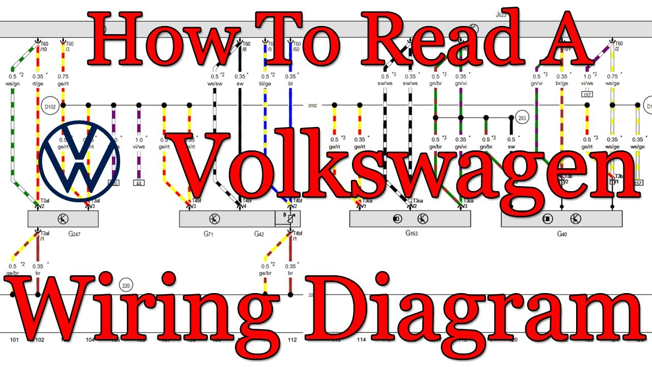 How to read VW Wiring Diagrams (With Camshaft Sensor Example) - VOLKSWAGEN  - YouTubeYouTube