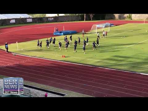 Bermuda And Guyana Teams Warming Up, June 6 2019
