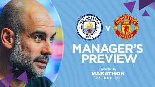 GUARDIOLA VOWS TO ATTACK AGAINST UNITED | PRESS CONFERENCE | Man City v Man United Carabao Cup
