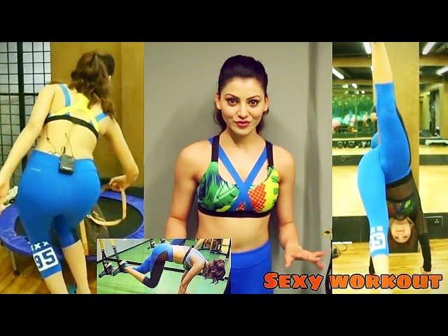 Urvashi Rautela Hot Workout At Gym || Sexy Workout || Bollywood About #urvashirautela