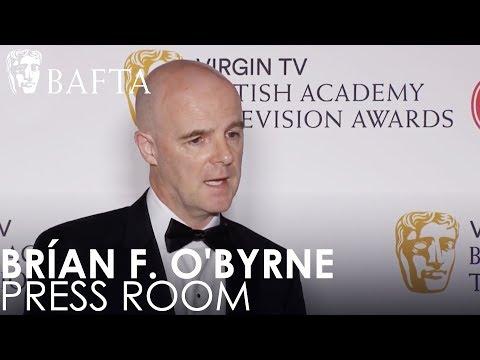 Supporting Actor Winner Brían F. O'Byrne Press Room   BAFTA TV Awards 2018