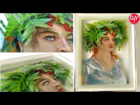 7 слоев, 3Д картина из эпоксидной смолы. Объемный портрет.