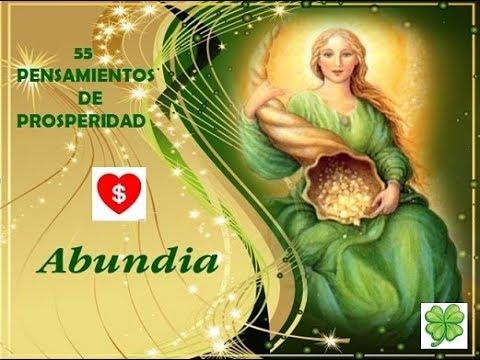 55 pensamientos de Prosperidad de Abundia (Angel del Dinero y la Abundancia)