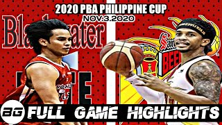 Full Game Highlights: Blackwater vs San Miguel   2020 PBA Philippine Cup   November 3, 2020 1ST GAME